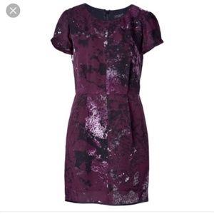 Rag & Bone Leonard Silk Purple Galaxy Print Dress